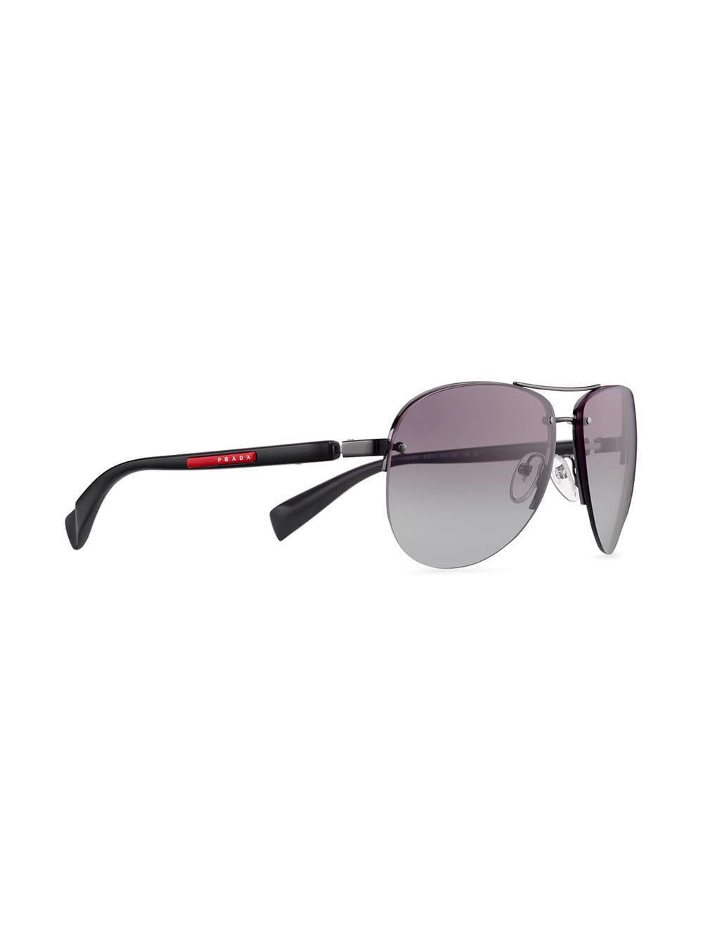 3ac65624d1bc Lyst - Prada Aviator Sunglasses in Gray for Men