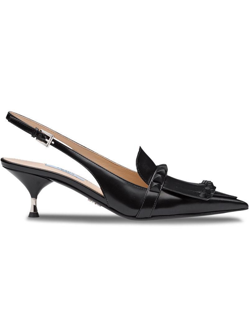 studded fringe pumps - Black Prada 1xsBA