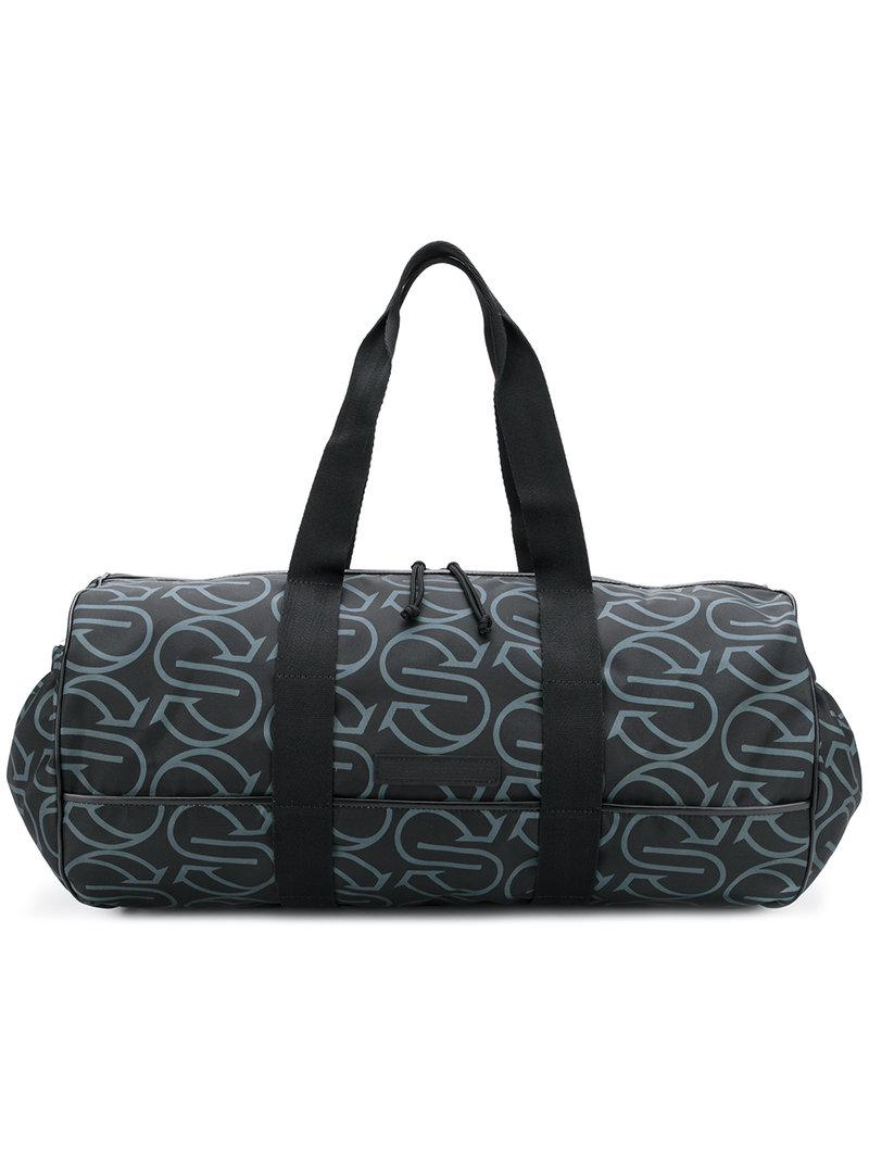 a60301826535 Stella McCartney - Black Printed Logo Holdall for Men - Lyst. View  fullscreen