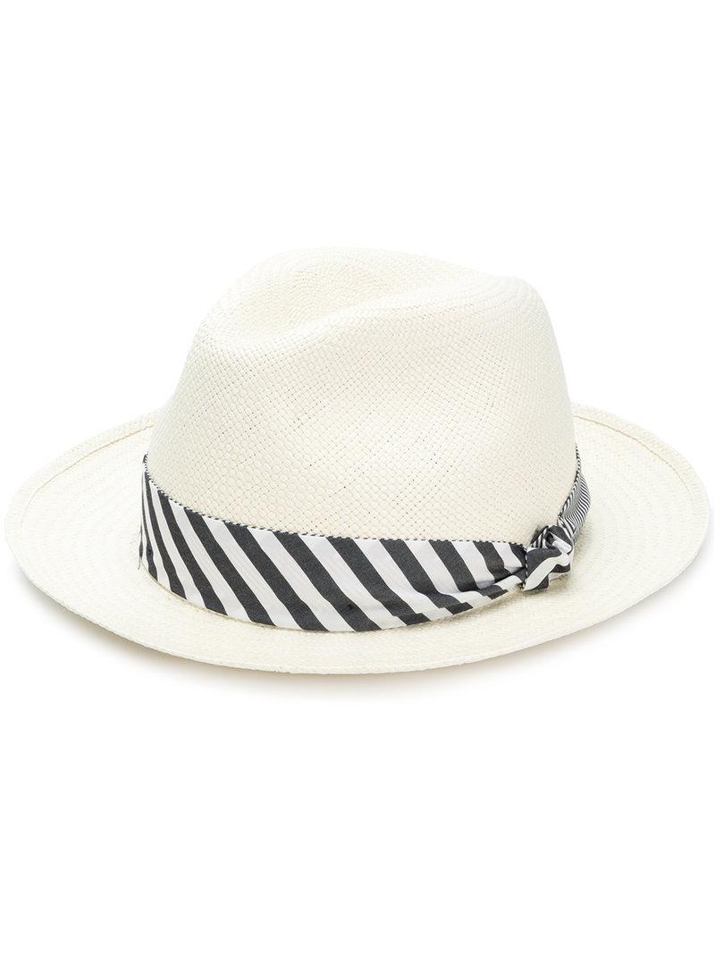 Lyst - Borsalino Panama Quito Tie Hat for Men 68e3cbe486b4