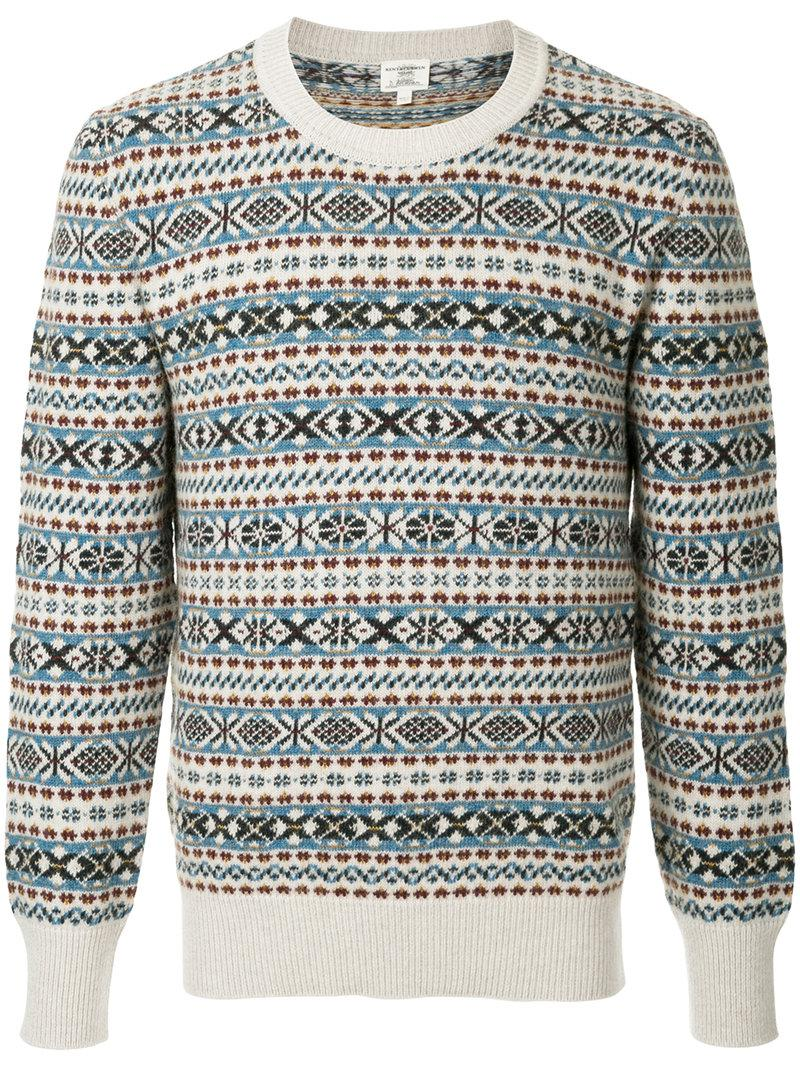 60541c8b3 Kent   Curwen Pattern Knit Jumper for Men - Lyst