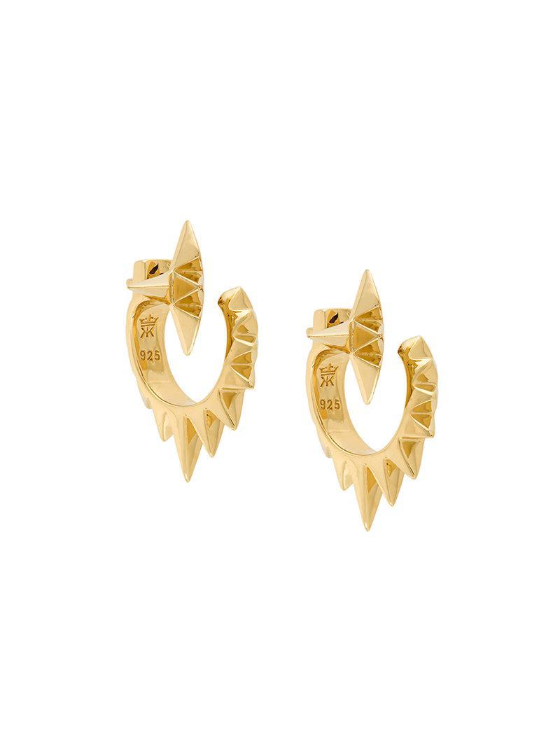 Kasun London Croc hoop earrings - Metallic 8p43E