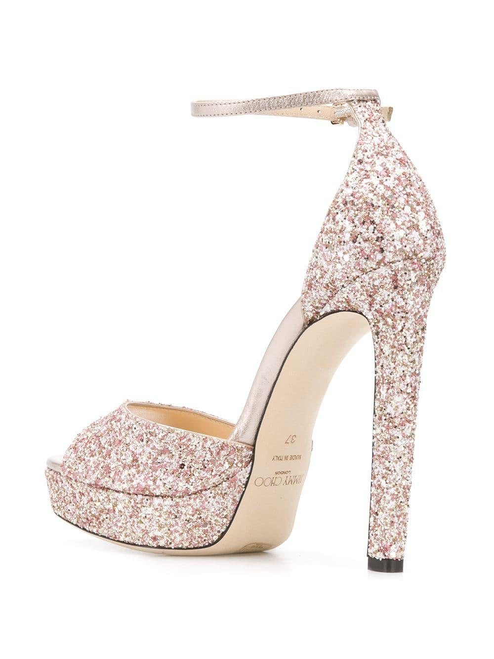 c50fc7ebe210 Jimmy Choo Pattie 130 Sandals in Pink - Lyst