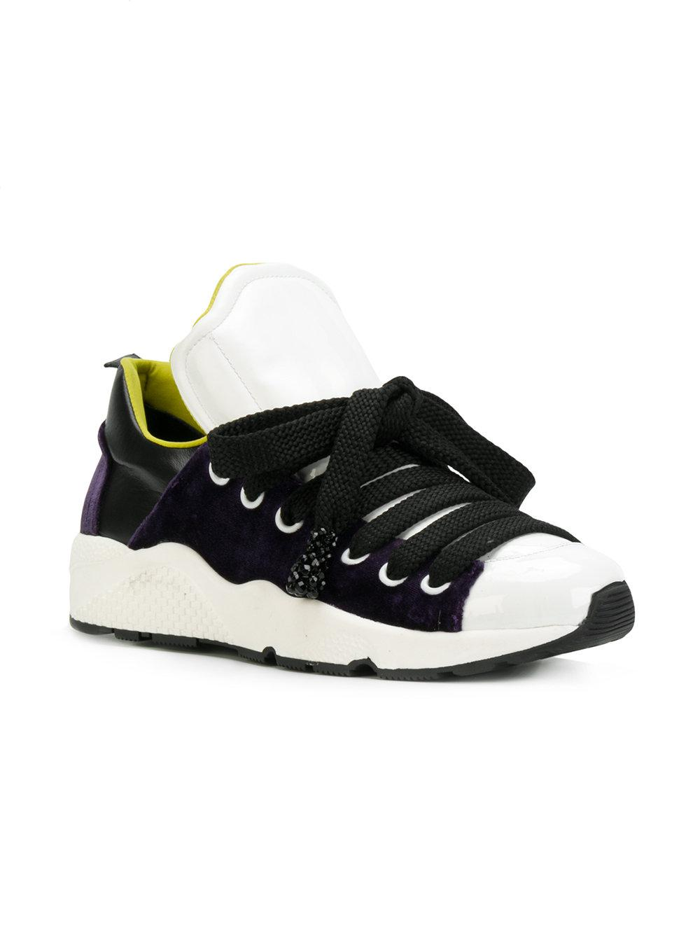Lyst - NO KA  OI Colourblock Low Top Sneakers in White 08625fa07