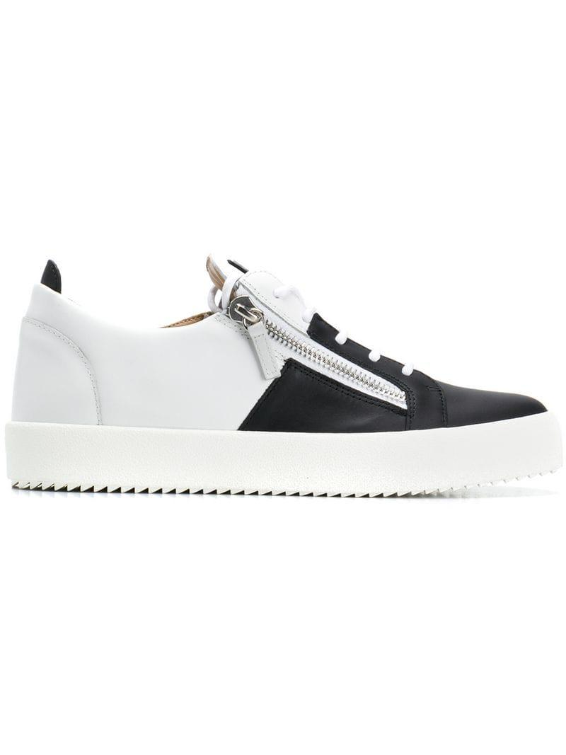 a8cfe2593b8d Giuseppe Zanotti Frankie Signature Sneakers in White for Men - Lyst