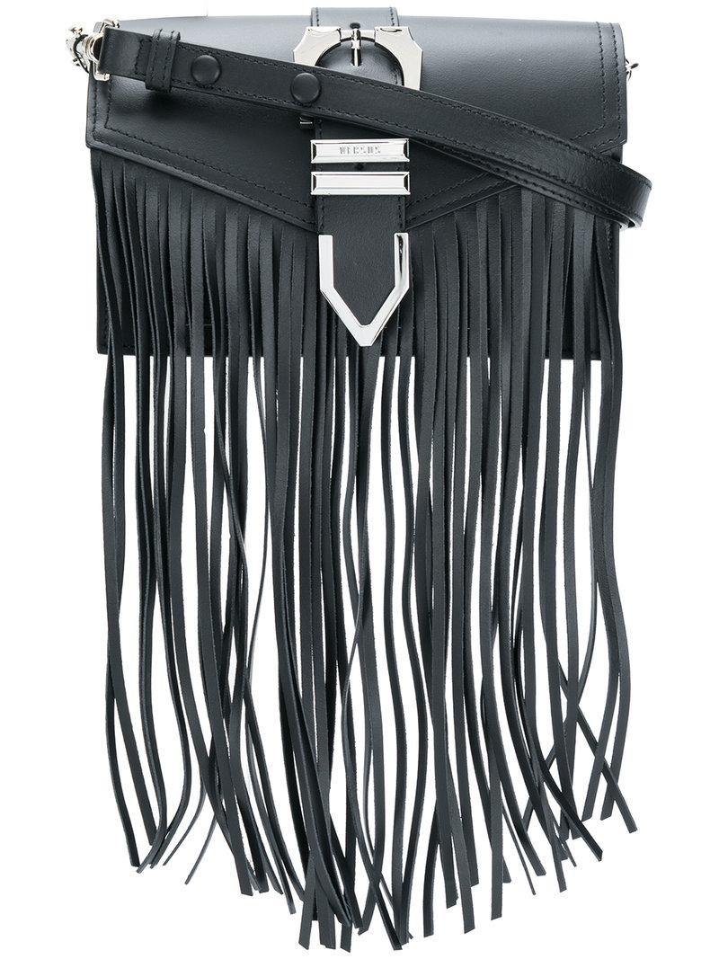 Versus fringed shoulder bag - Black iFb3XNHn