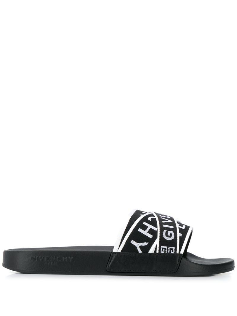0b511f1d9f4f0 Givenchy - Black Logo Strap Sliders for Men - Lyst. View fullscreen