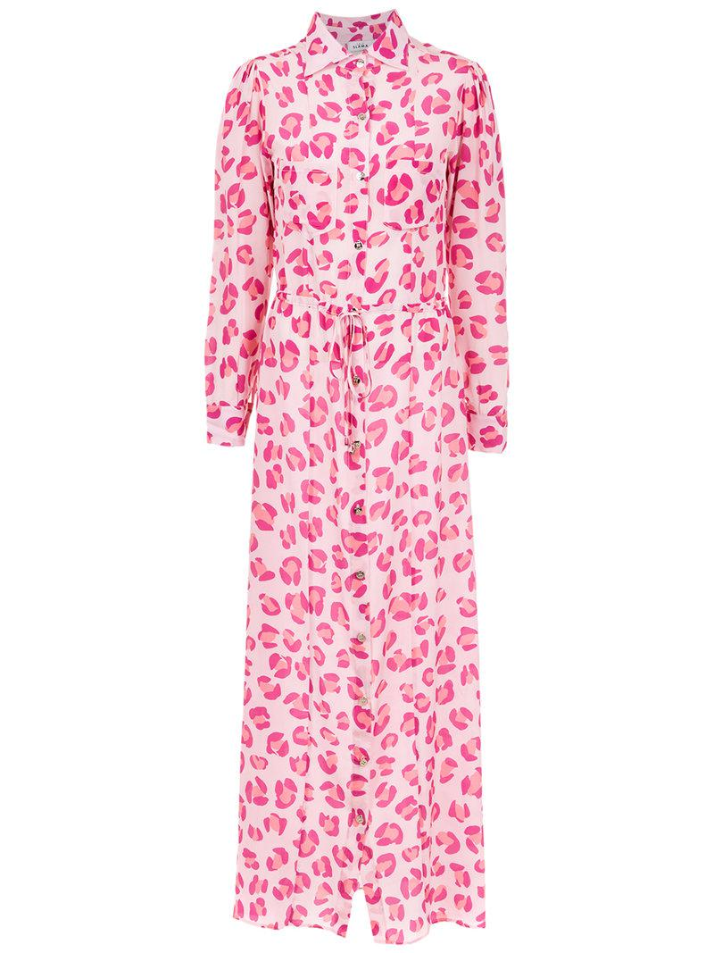 fb8dd2dde9c5 Amir Slama Jaguar Silk Beach Dress in Pink - Lyst