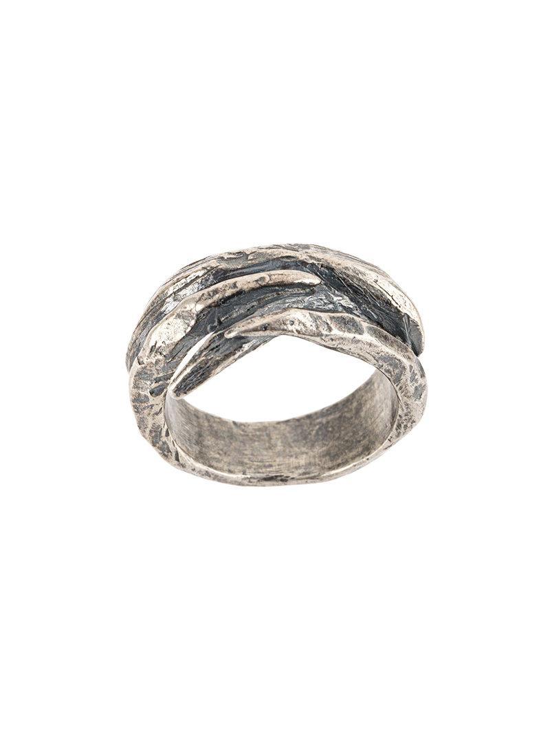 Tobias Wistisen Script Plate ring - Metallic kF7t2