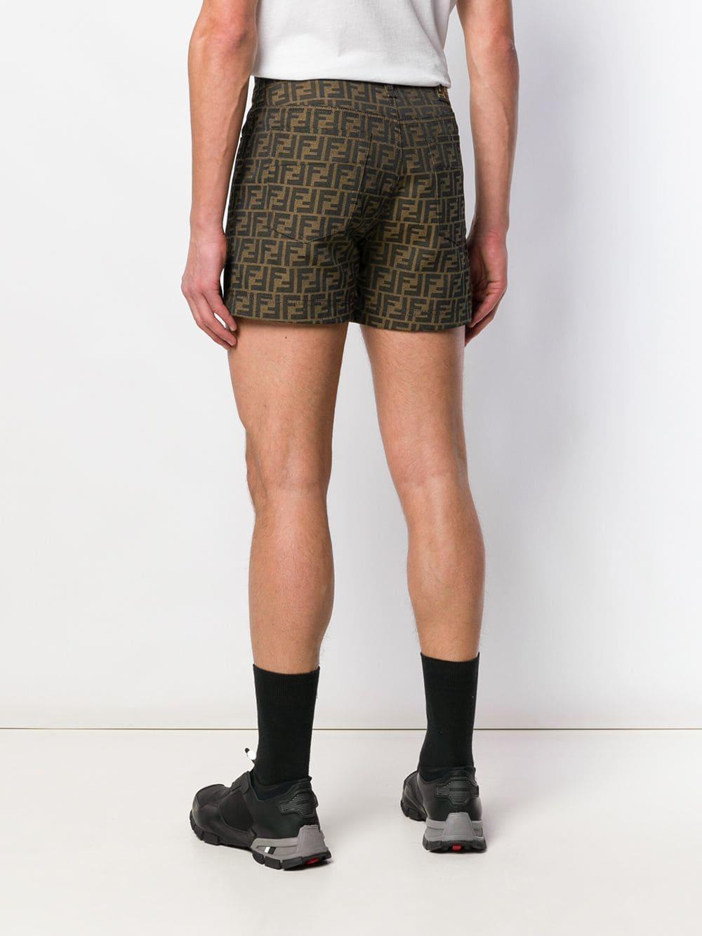 9485de822c8b4 Fendi - Yellow Logo Shorts for Men - Lyst. View fullscreen