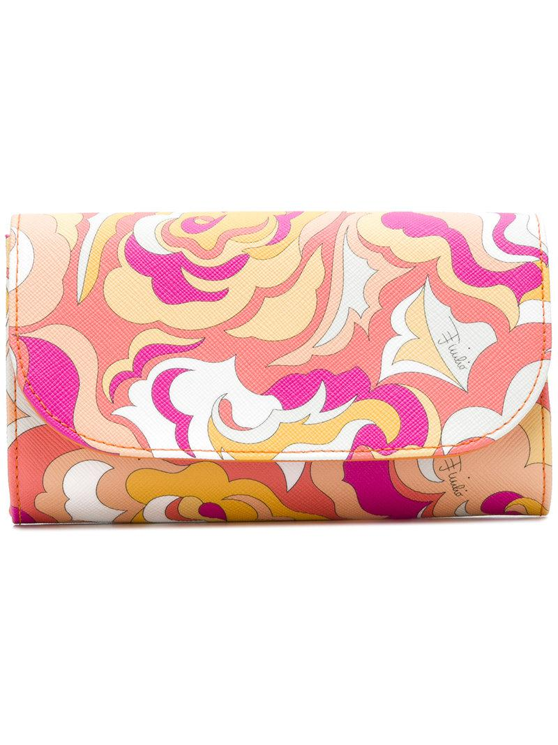 Emilio Pucci Abstract print wallet 04pf2C0