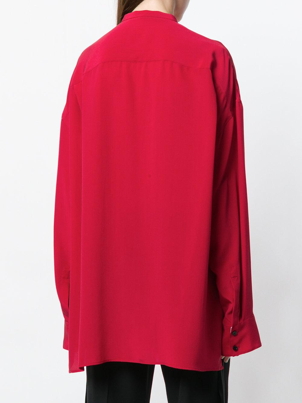 5eea4191c Lyst - Haider Ackermann Oversized Classic Shirt in Red
