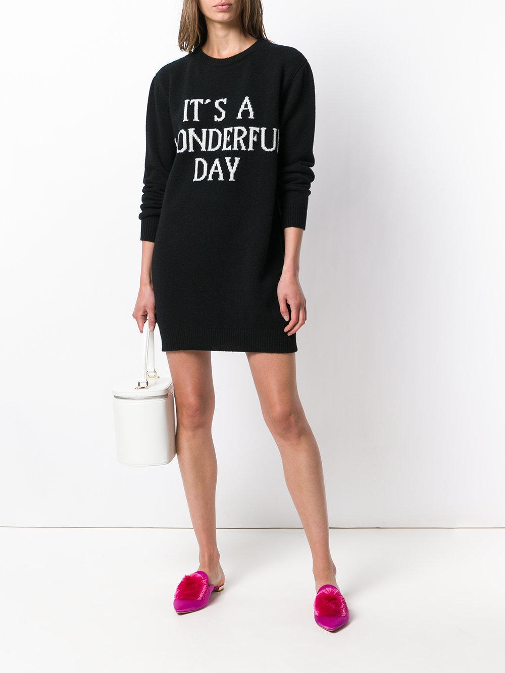 Its a Wonderful Day sweater dress - Black Alberta Ferretti Get The Latest Fashion Best Price Shop Cheap Price Outlet Shop tJrFwSERU