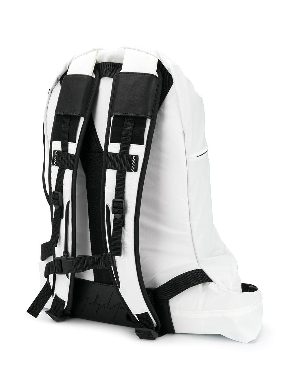 fe1f53cc2ecf Y-3 - White Connected Zippers Backpack for Men - Lyst. View fullscreen