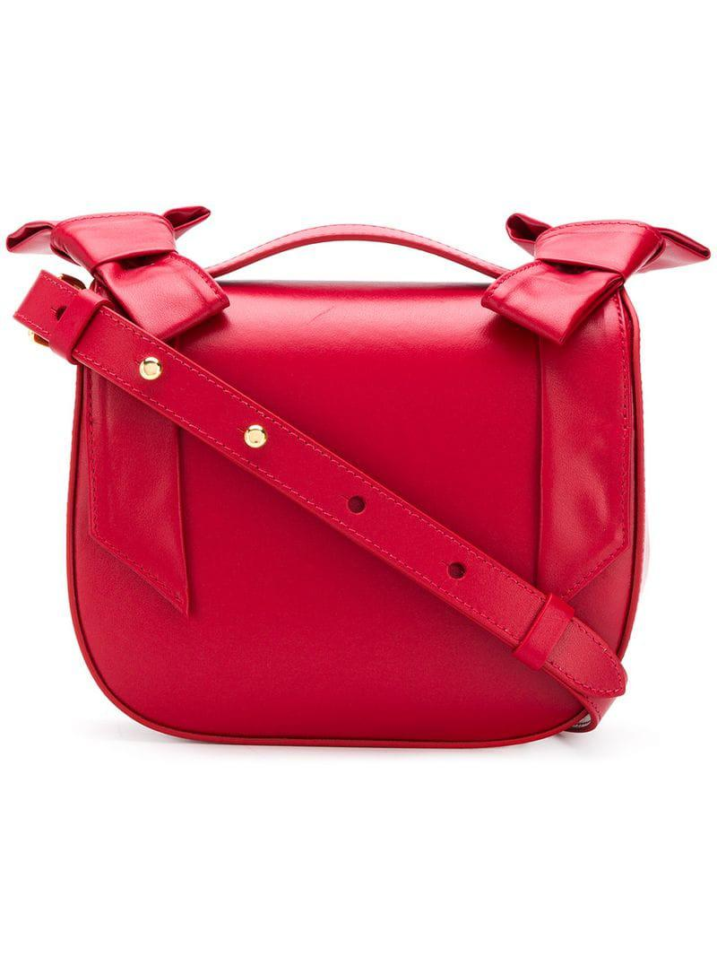 8c64ee238f Lyst - Simone Rocha Double Bow Crossbody Bag in Red