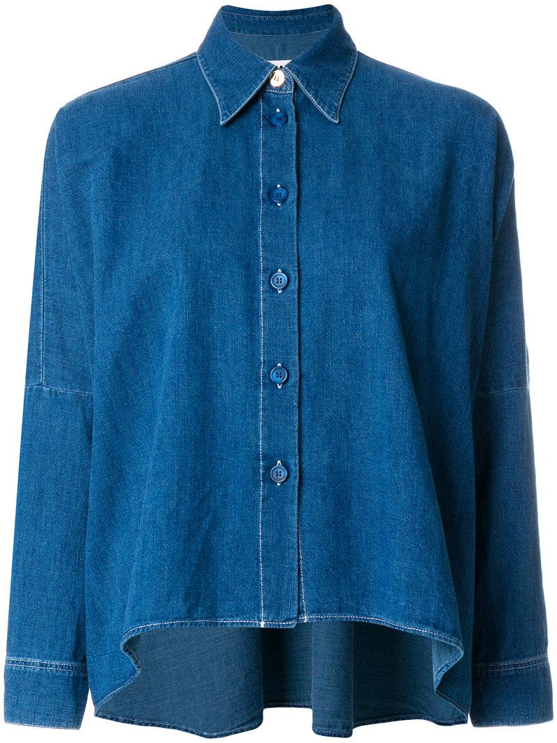 Clearance Best Sale Fast Delivery Cheap Price balloon sleeve denim shirt - Blue Maison Martin Margiela Largest Supplier 0VrDWv