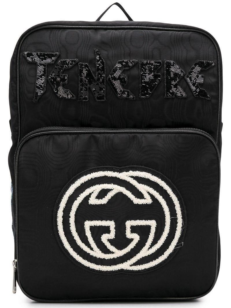 Lyst - Gucci GG Logo Backpack in Black for Men 121458f6a2ed3
