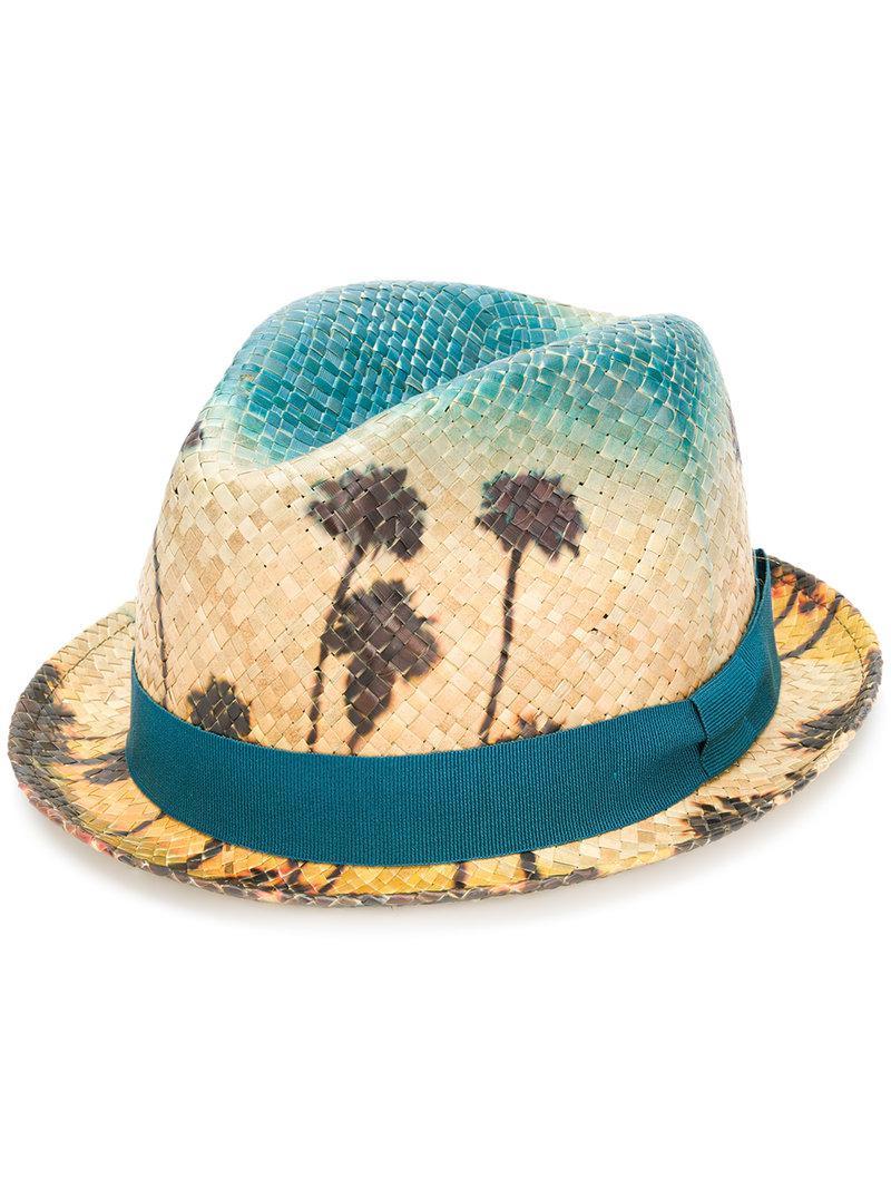 a8c6d15c618e3 Paul Smith Palm Sky Hat in Blue for Men - Lyst