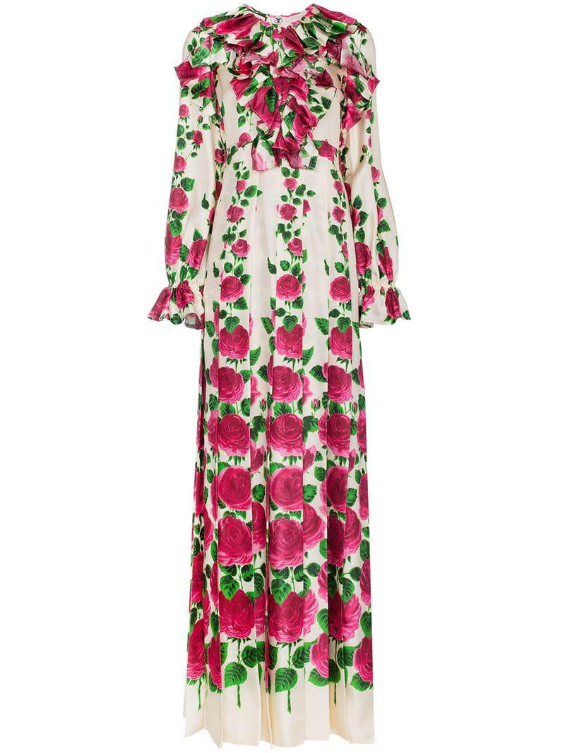 66a5c58ef Gucci. Women's Silk Rose Garden Print Gown