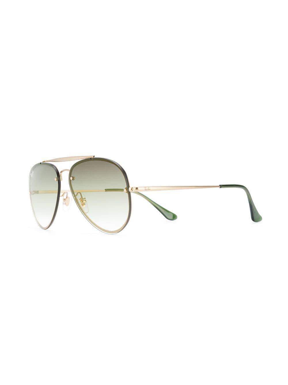2f6414d3c9 Ray-Ban - Metallic Blaze Polarized Aviator Sunglasses - Lyst. View  fullscreen
