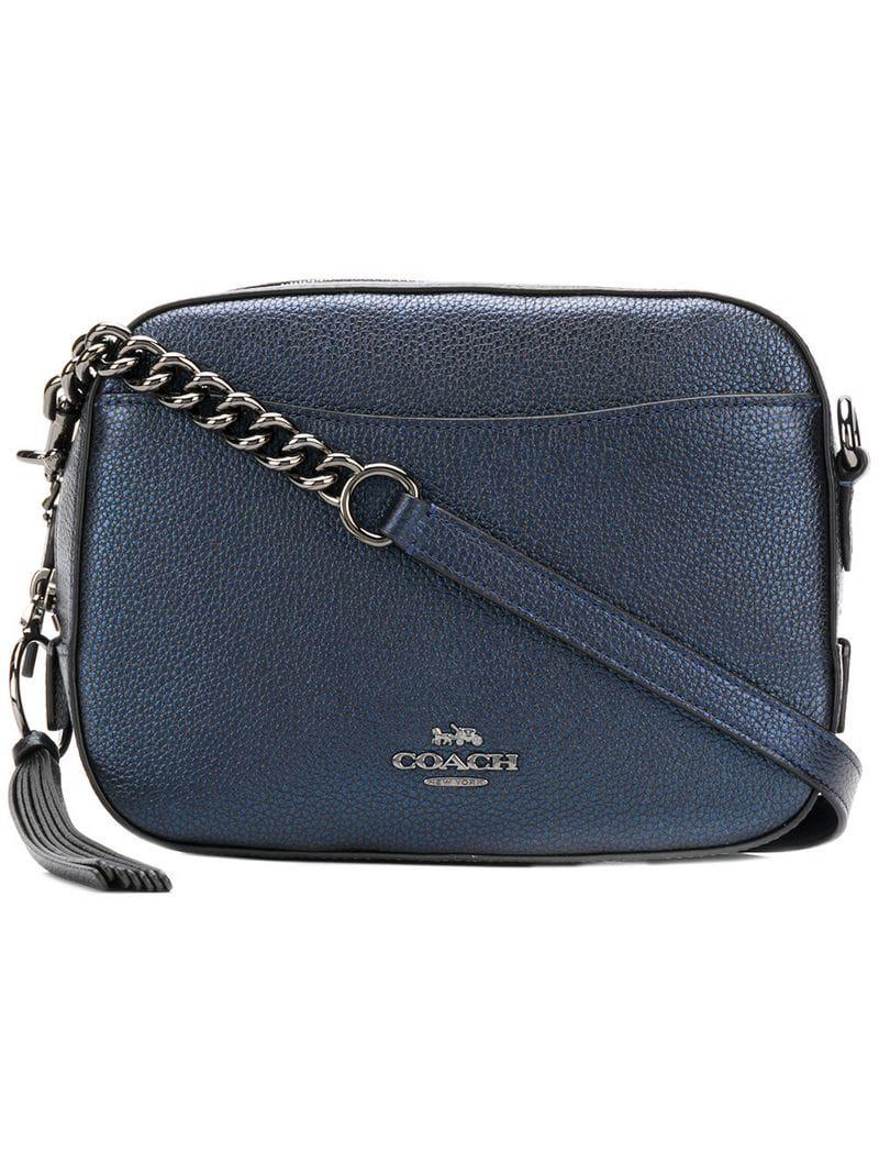 COACH - Blue Leather Camera Bag - Lyst. View fullscreen 604c4348757ed