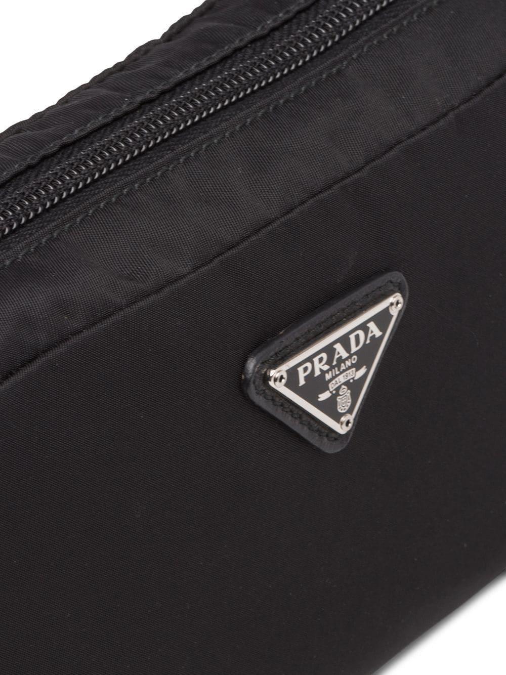 4a461ab983 Lyst - Prada Fabric Cosmetic Pouch in Black - Save 12.903225806451616%
