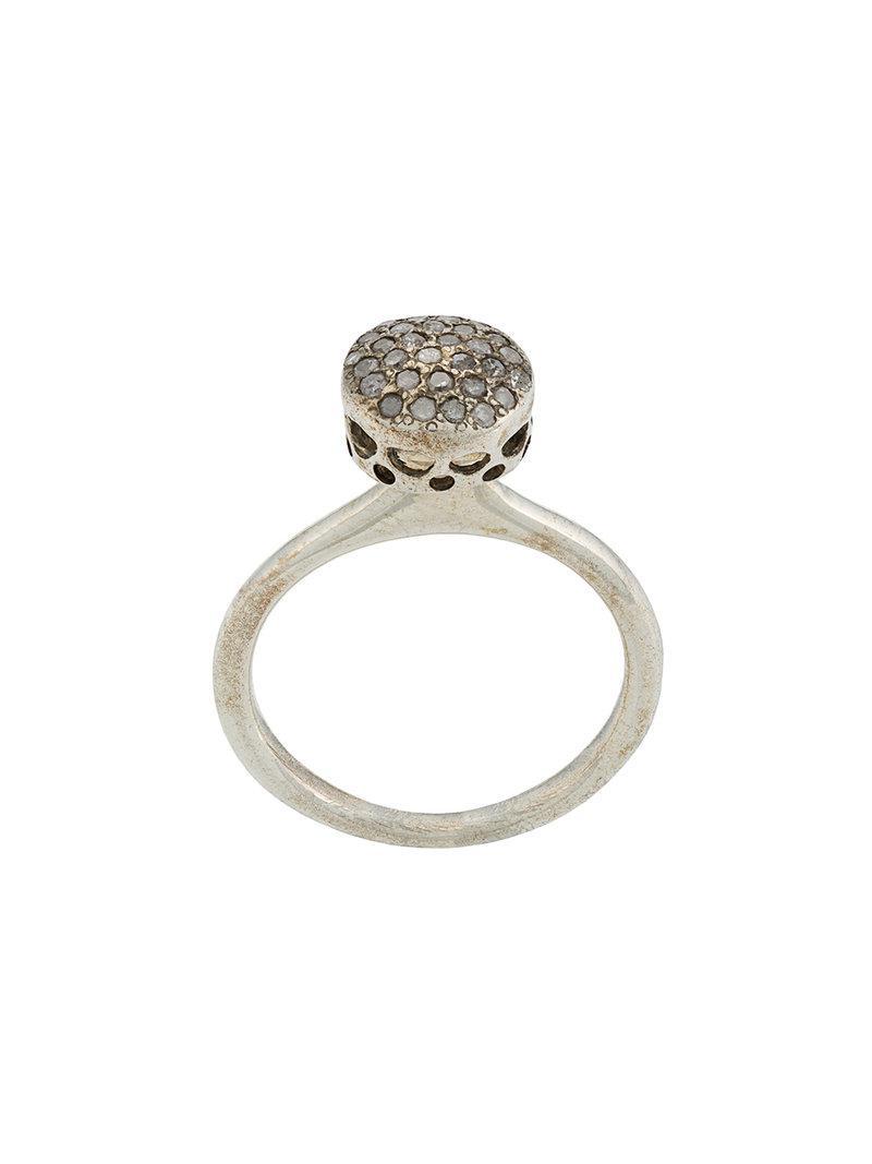 Rosa Maria circular diamond ring - Metallic fLm3ih