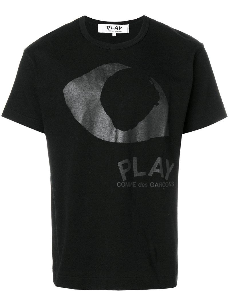 Play Comme Des Gar Ons Branded T Shirt In Black For Men Lyst