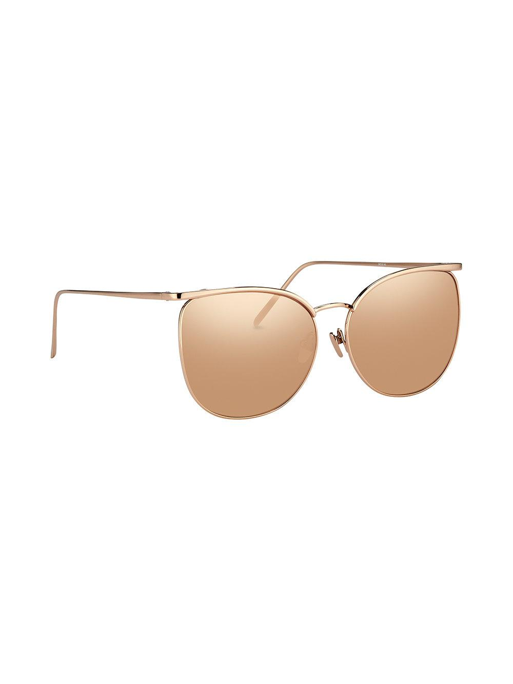 Save Sunglasses Linda Farrow In Metallic Shaped Oversized UxqUgwP0z