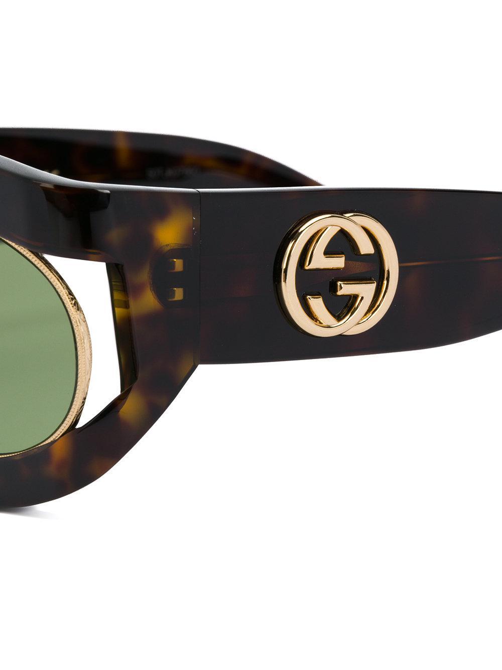 Tortoiseshell-effect sunglasses Gucci hnac8GR