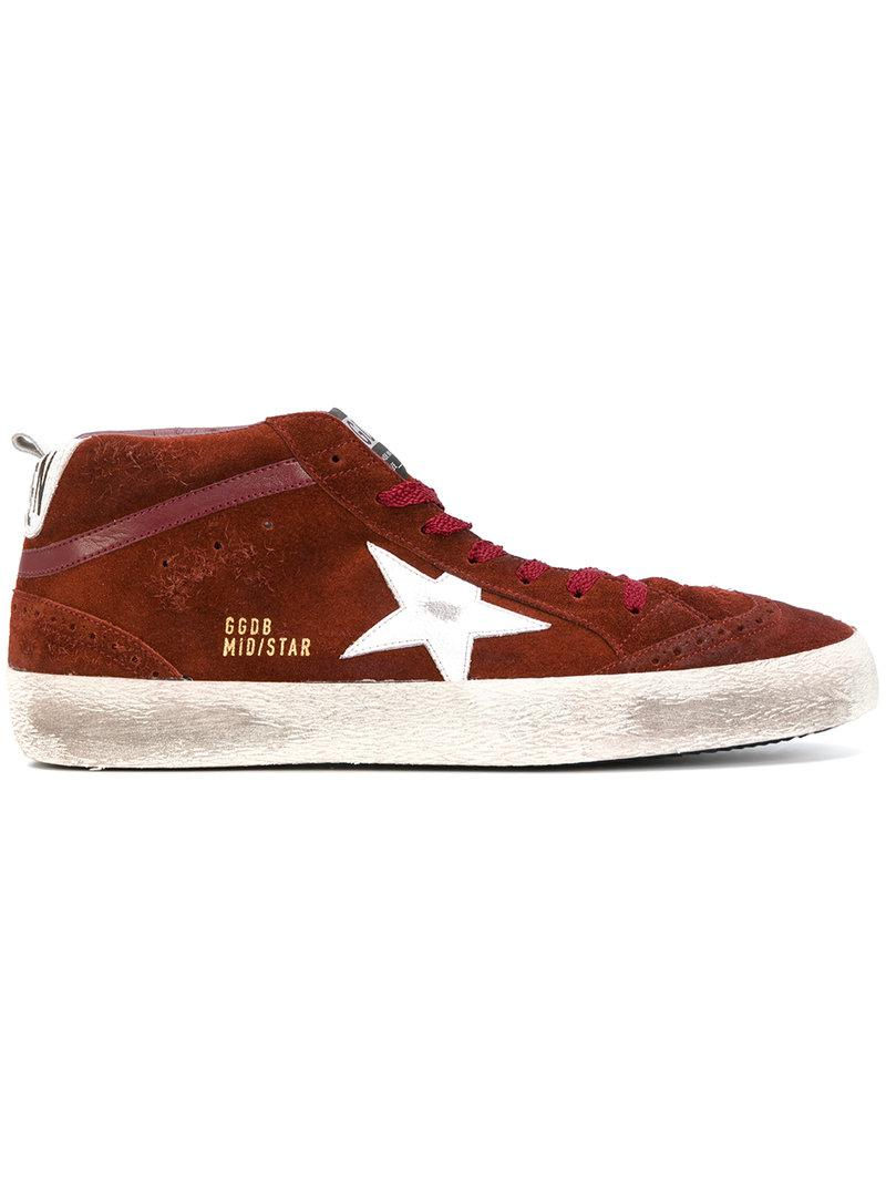 7f0487661194 Lyst - Golden Goose Deluxe Brand Mid Star Sneakers in Red for Men ...