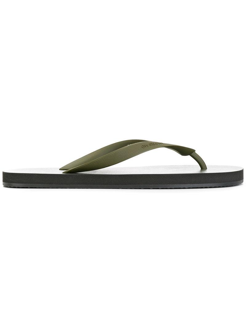 printed flip flops - Green Givenchy