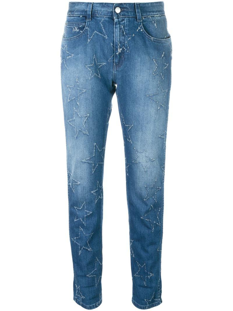 star accent straight-fit jeans - Blue Stella McCartney