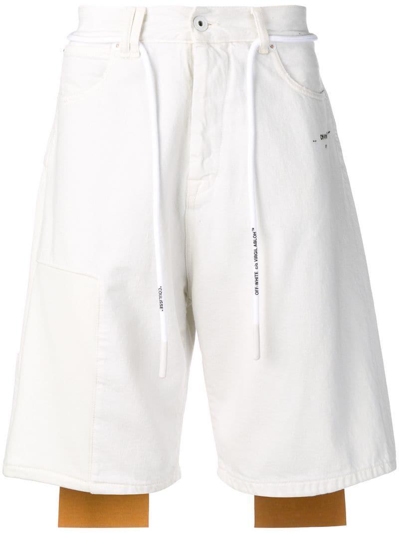 db04a95aa138 Lyst - Off-White c o Virgil Abloh Denim Shorts in White for Men ...