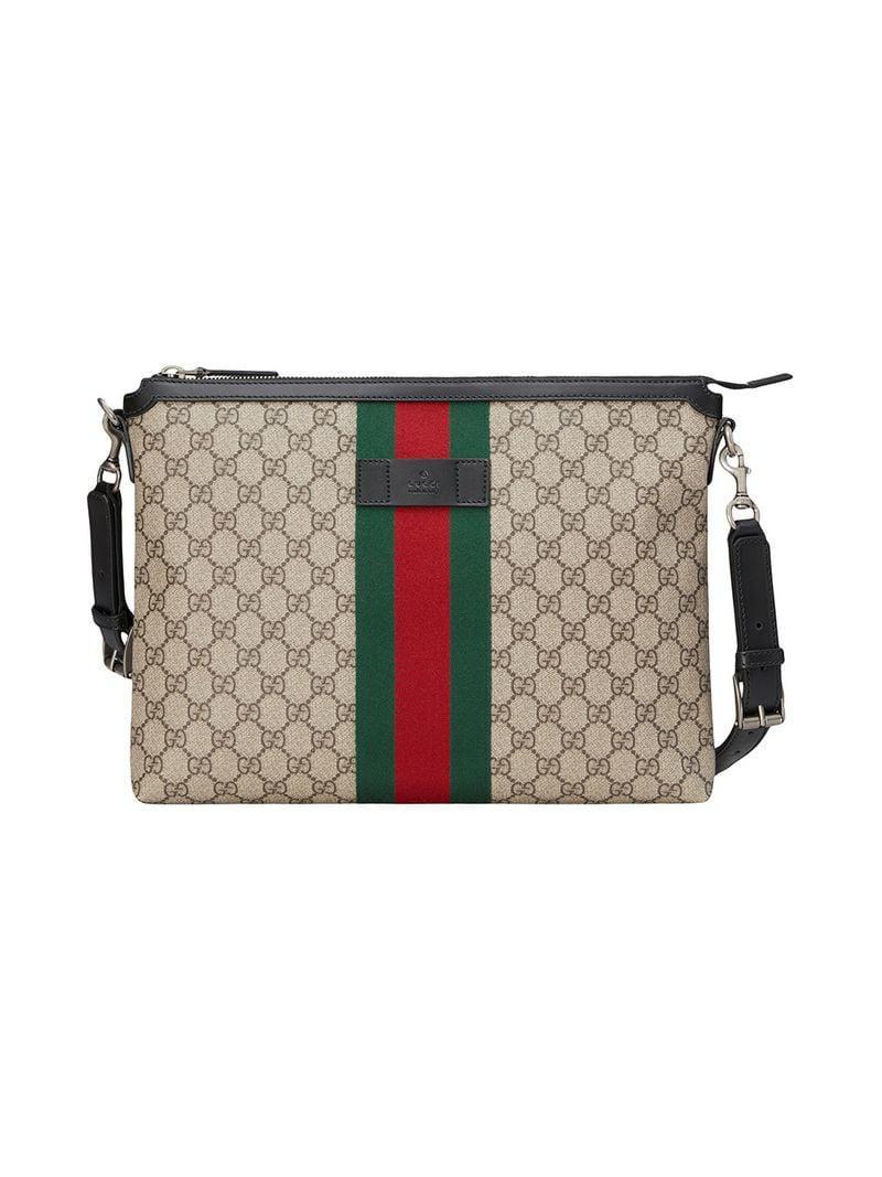 Lyst - Sac porté épaule médium à motif Suprême GG Gucci pour homme dd56827bd1a