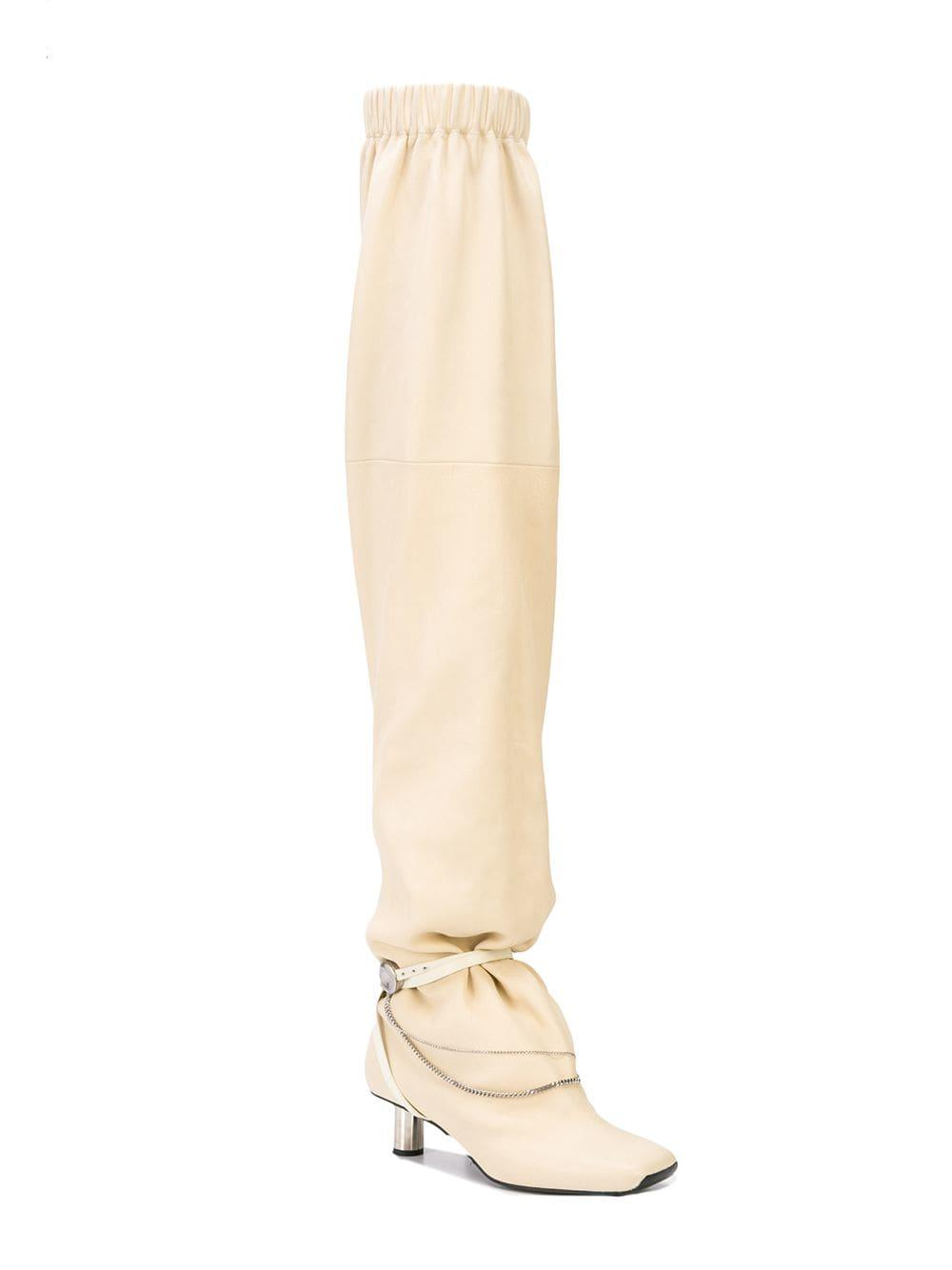 6109d8a72352 Lyst - Proenza Schouler Pre-order  Over The Knee Slouch Boots in White