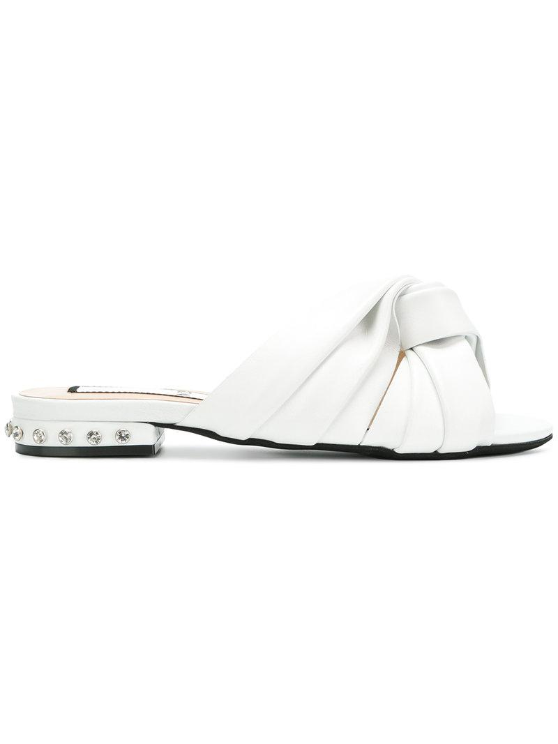 knot front sandals - White N Free Shipping Fashion Style Clearance Cheapest Price High Quality Sale Online 3jhr1J1dtz