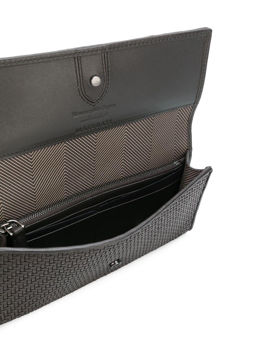 e4db02d36829 Ermenegildo Zegna X Maserati Pelle Tessuta Glasses Case in Brown for ...