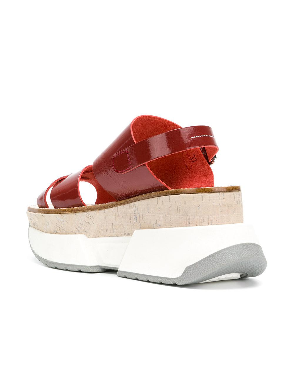 platform lace-up sneakers - Red Maison Martin Margiela jhagHM