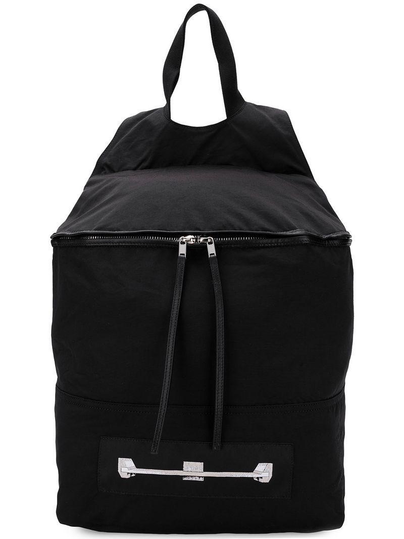Rick Owens Drkshdw Drkshdw Leather-insert Backpack in Black - Lyst 57c896461e313