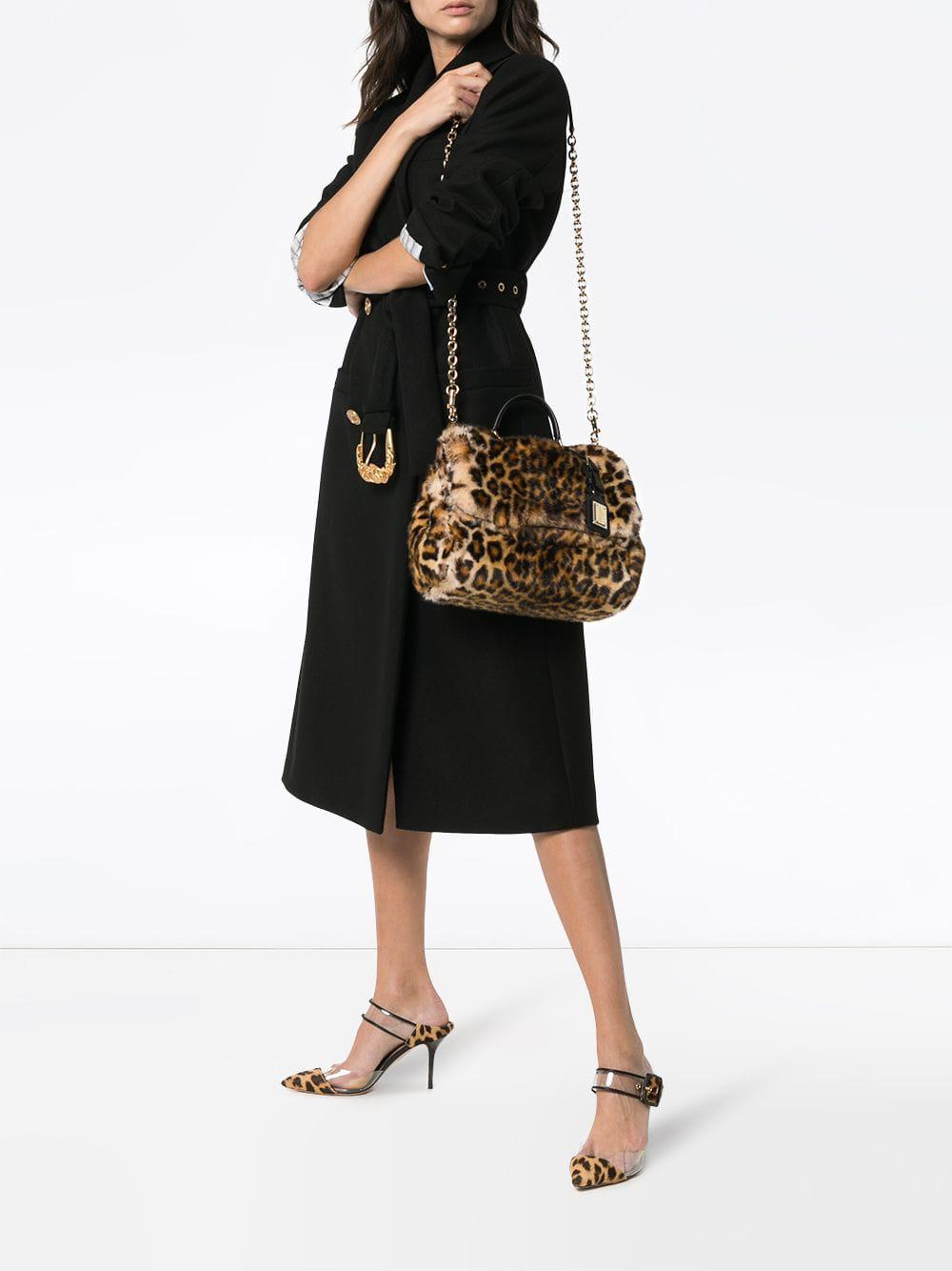 Lyst - Dolce   Gabbana Brown And Yellow Sicily Calf Hair Shoulder Bag in  Brown - Save 21% 833607491067f