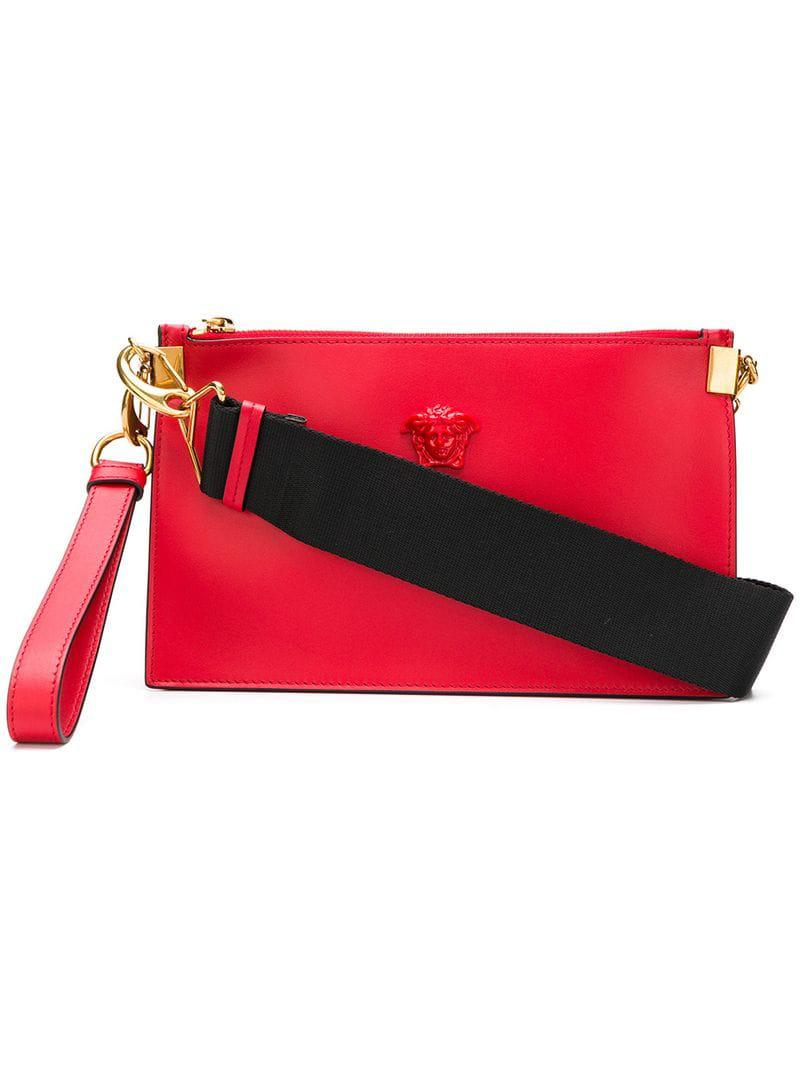 619b0b704174 Lyst - Versace Palazzo Shoulder Bag in Red