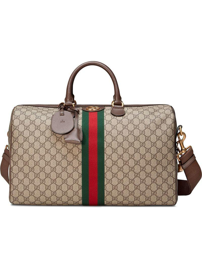 13e5da083da8 Lyst - Gucci Ophidia GG Medium Carry-on Duffle in Brown