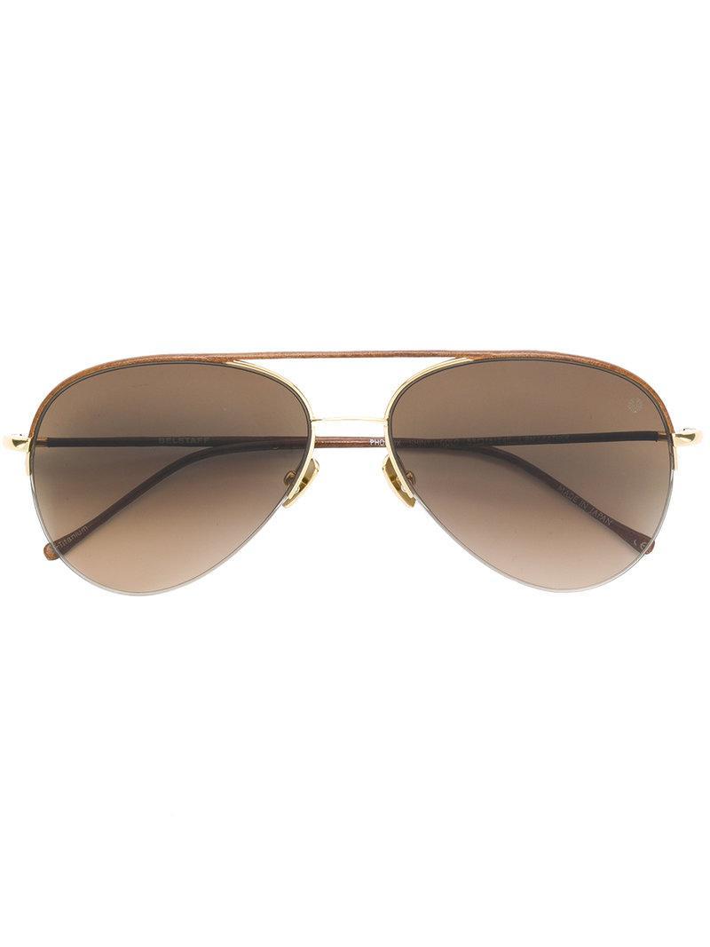 620a3143a166 Belstaff - Brown Phoenix Aviator Sunglasses for Men - Lyst. View fullscreen