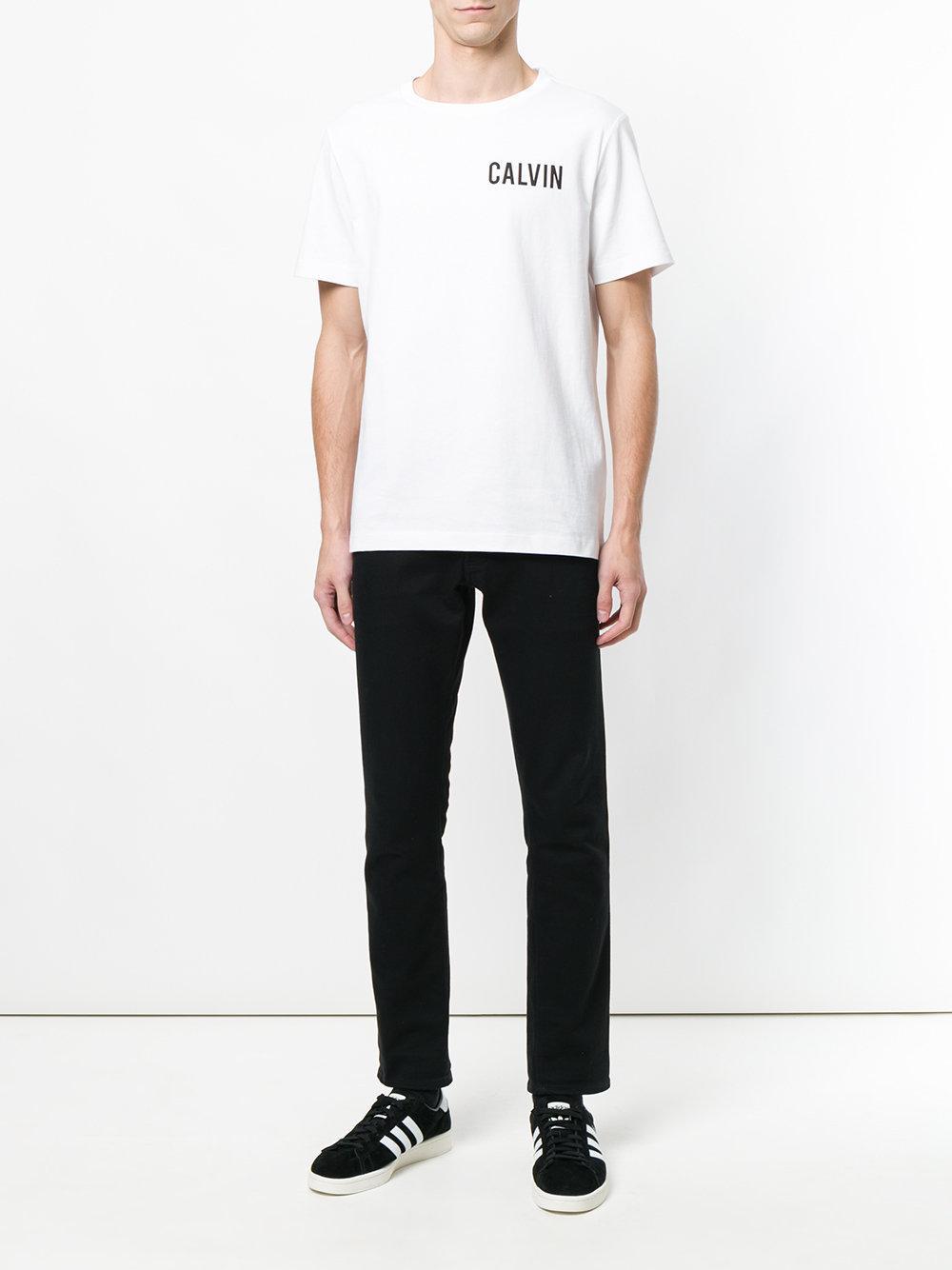 b6389763 Calvin Klein Hardcore Logo T-shirt in White for Men - Lyst
