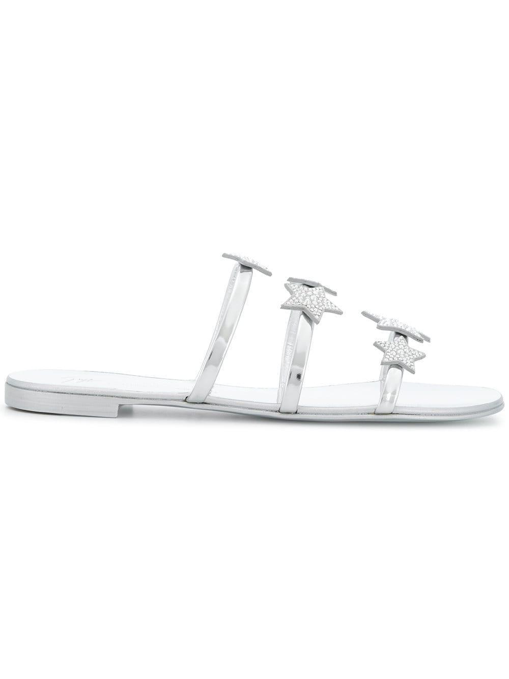 077ee7288208 Giuseppe Zanotti Star Strap Sandals in Metallic - Lyst