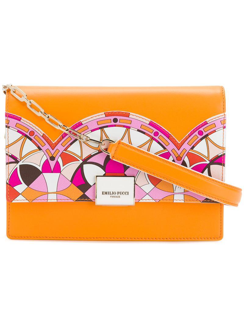designer print shoulder bag - Yellow & Orange Emilio Pucci 4me0R2D