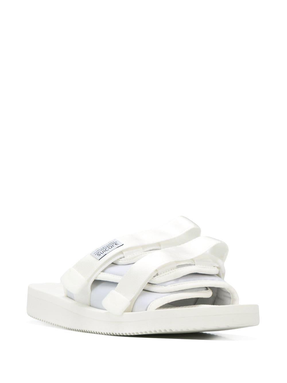 127328ae57e Suicoke - White Strapped Sliders for Men - Lyst. View fullscreen