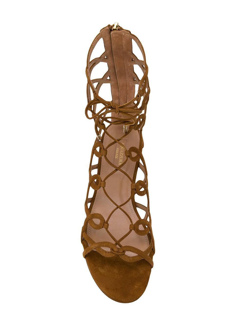 ankle length strappy sandals - Brown Aquazzura WYApxZ