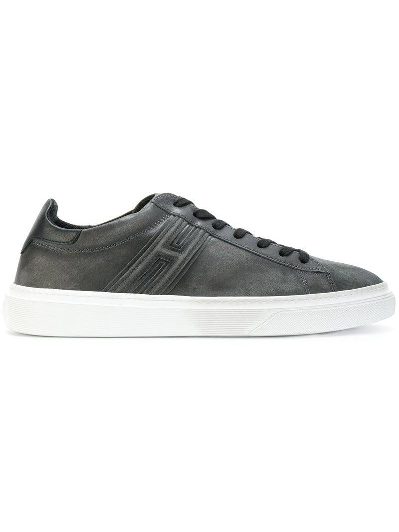 distressed low-top sneakers - Black Hogan L8KmpDkoeF